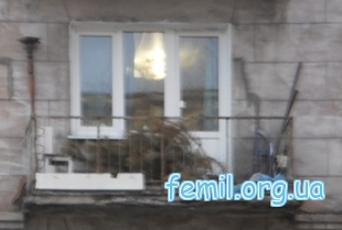 Елка на балконе