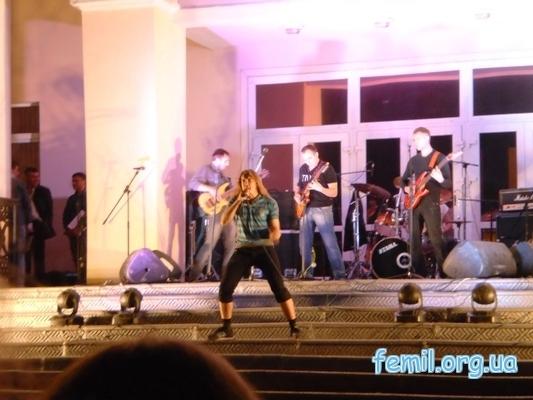 Выступление рок-группы «Авалон»