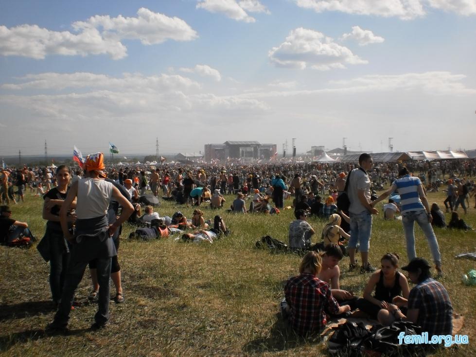 Рок фестиваль Рок над Волгой, фото поля