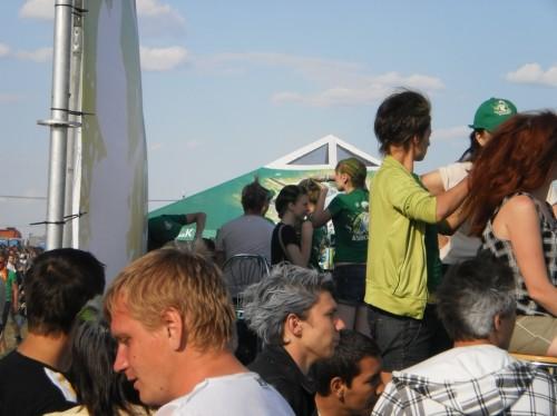 Парикмахерская на фестивале Рок над Волгой