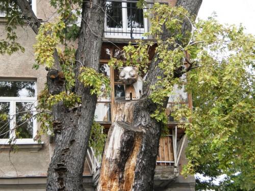 Деревянный кот
