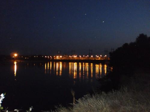 КремГЭС ночью