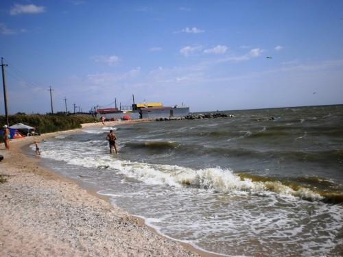Пляж на Кривой косе