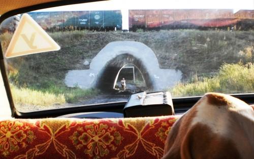 Тоннель под железнодорожным путем