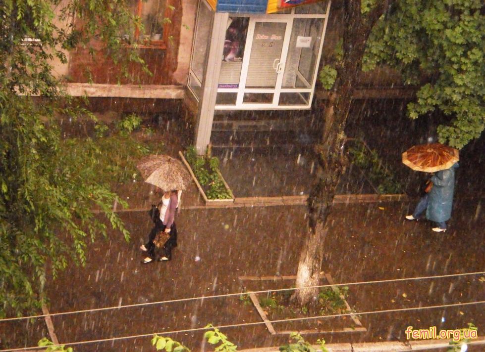 Дождь в Алчевске