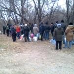 Очередь за водой, Алчевск