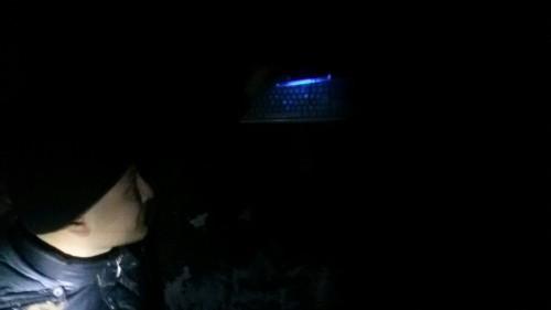 Клавиатура с кодом, видимым при УФ излучении