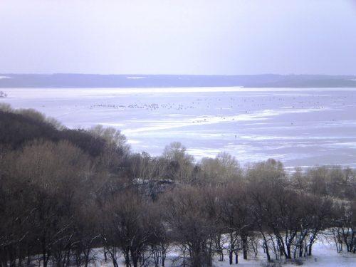Рыбаки на Днепре, зимняя рыбалка