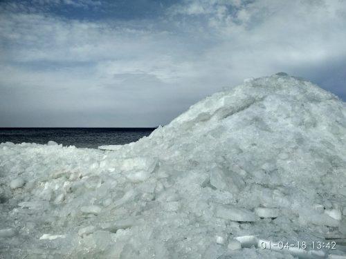 Ледяная крошка, река Днепр
