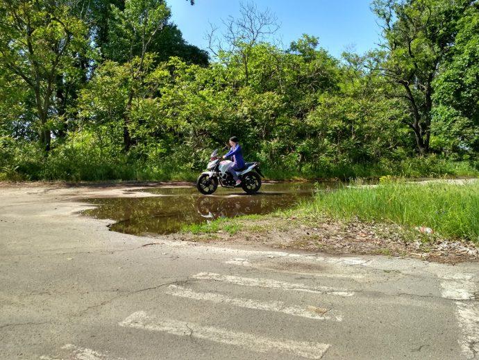 Катание на мотоцикле, Lifan Irokez
