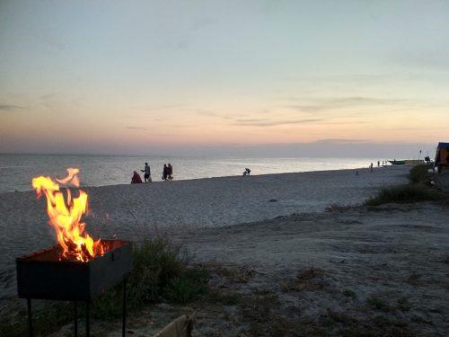 Вечерний пляж, Приморское, Херсонская область