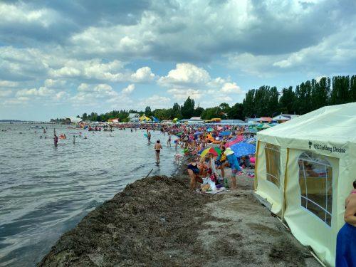Центральный пляж, Скадовск