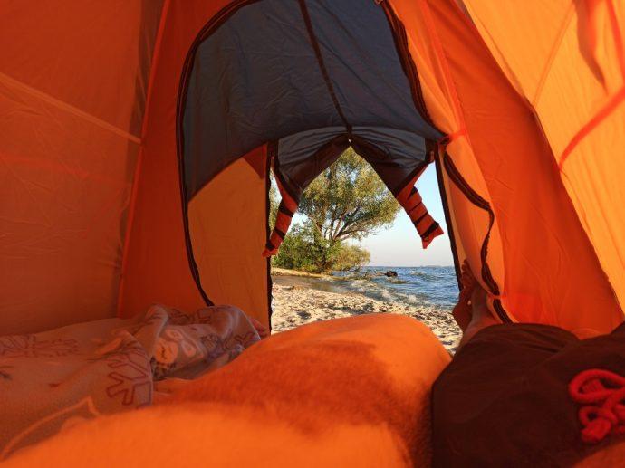 Вид из палатки